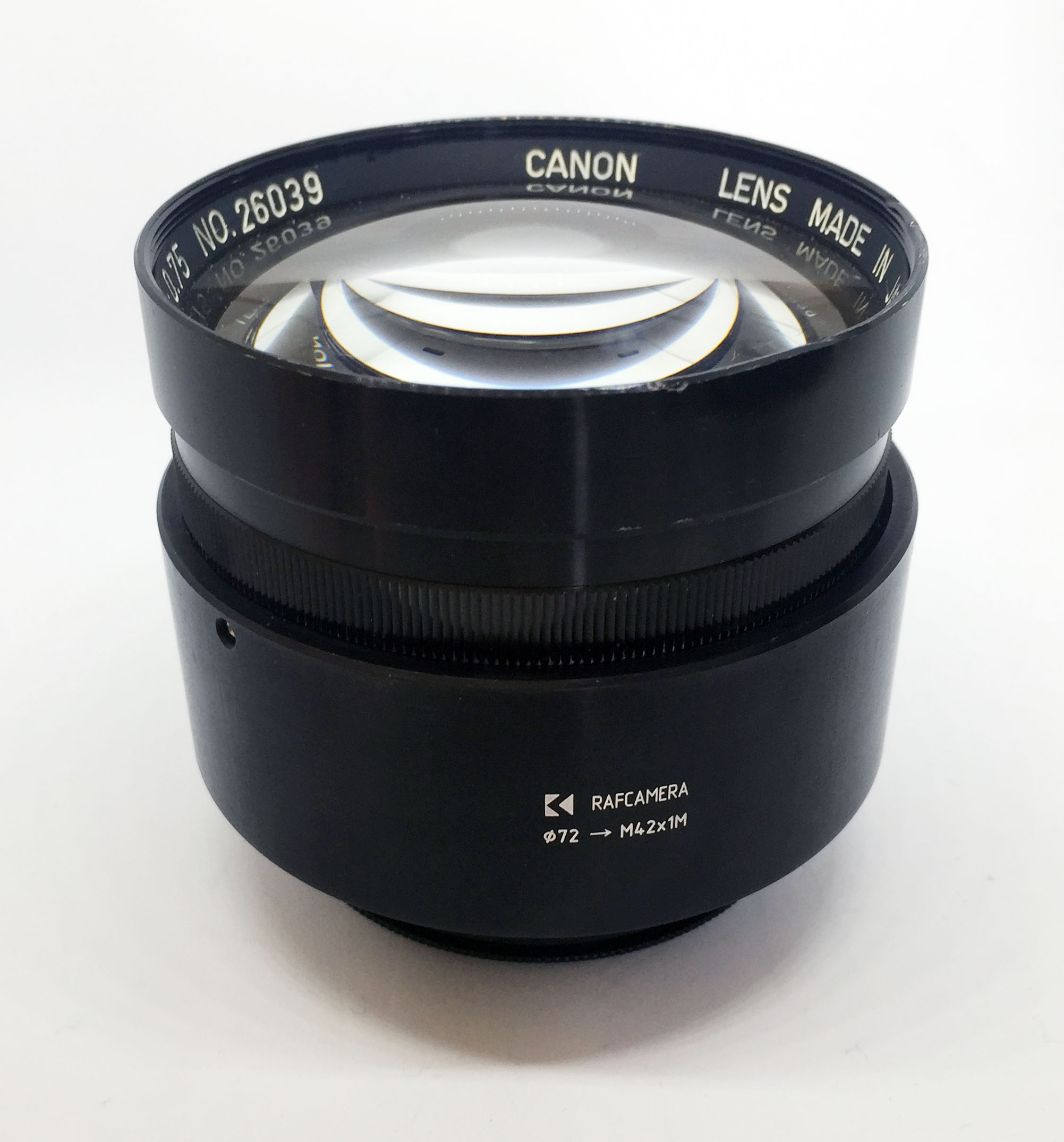 Canon 50mm f0.75 XI lens mount