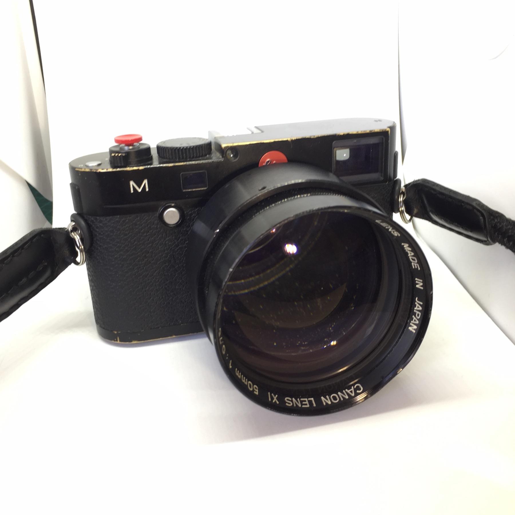 Leica M Canon 50mm f0.75 XI lens