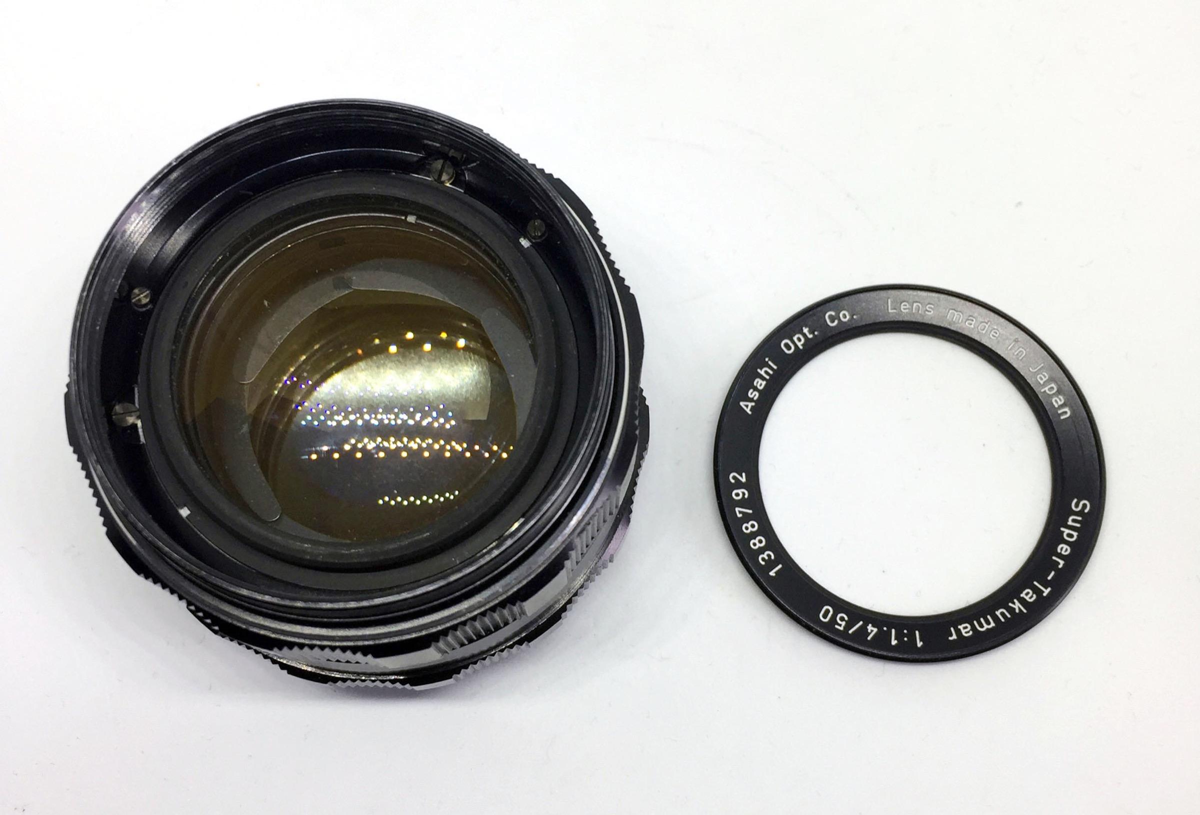 Super Takumar 50mm f1.4 rim removal