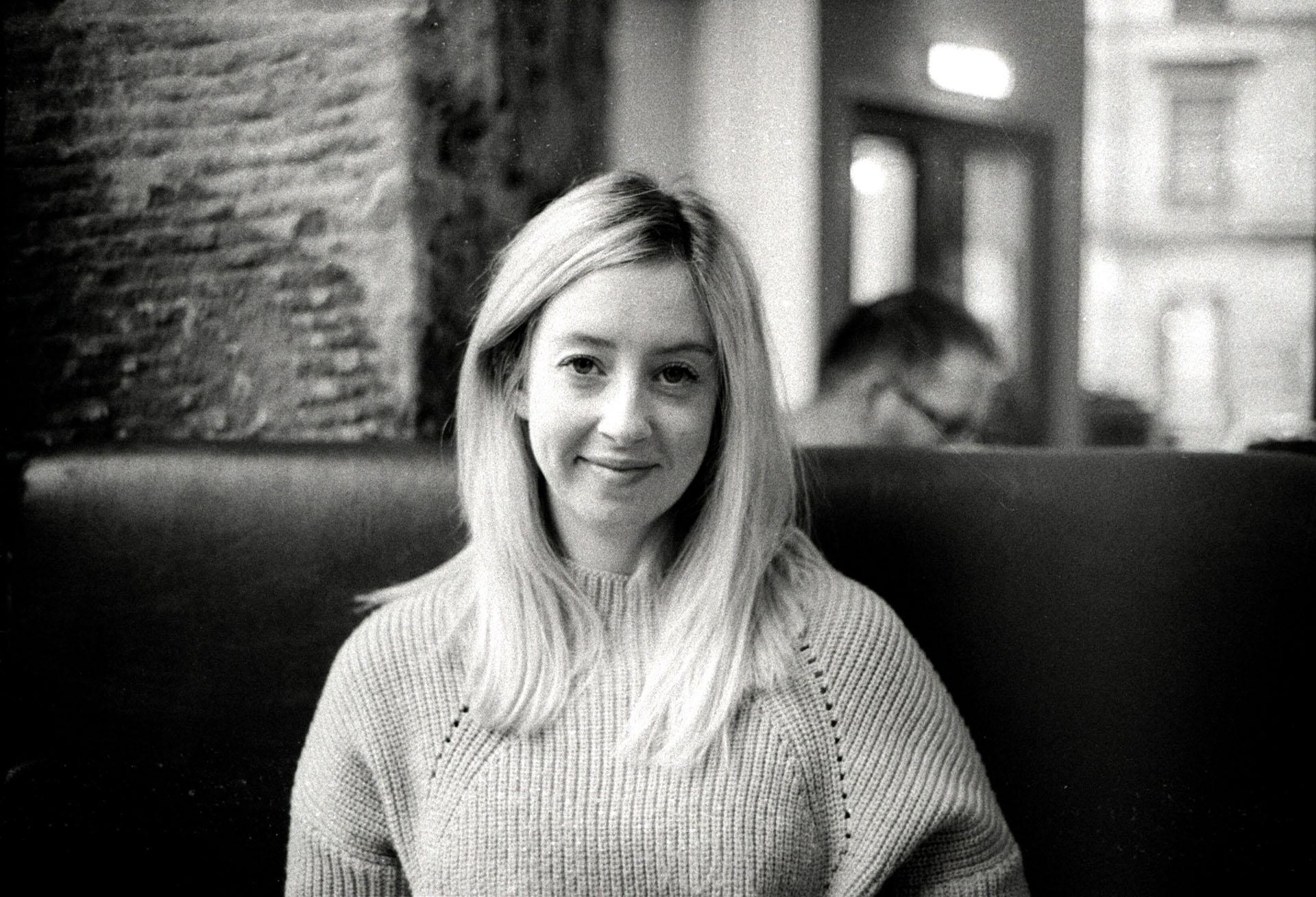 black and white film portrait