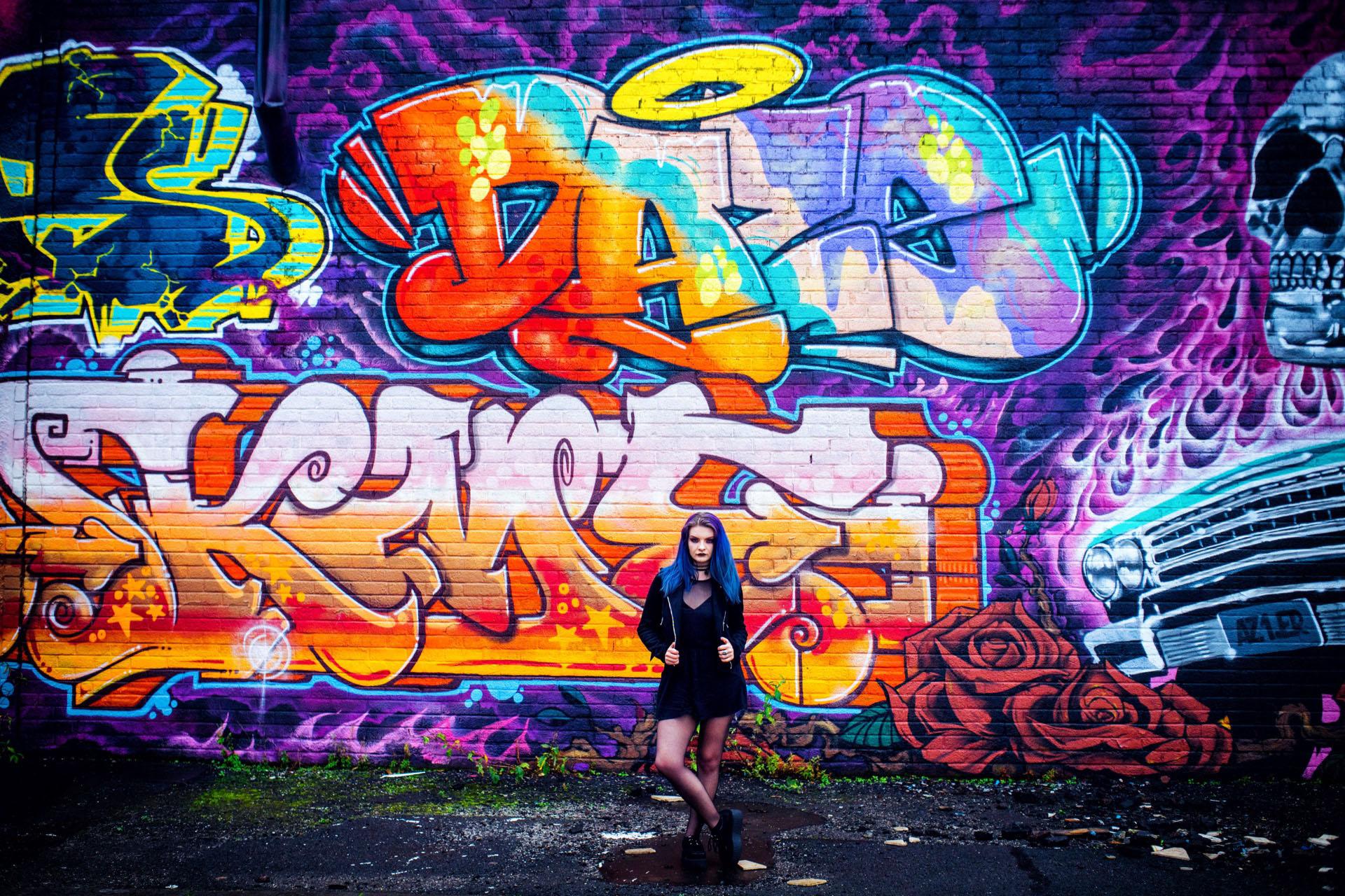 graffiti portrait photo