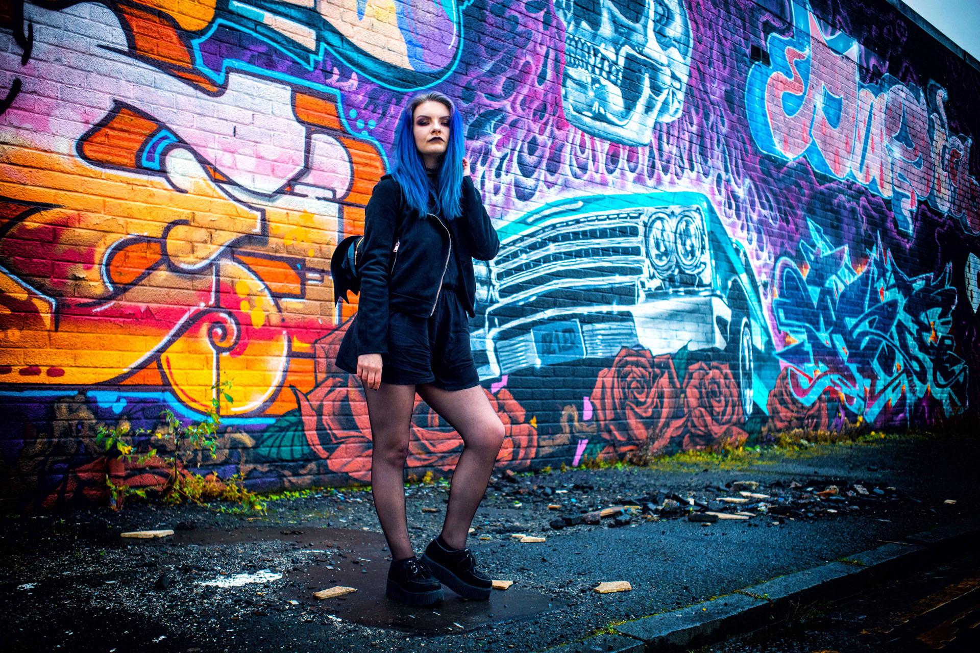 Glasgow graffiti portrait