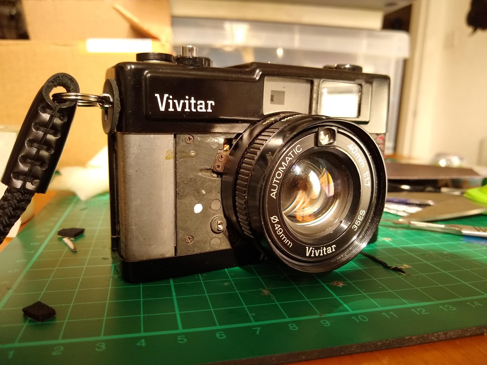 Vivitar 35ES leatherette replacement