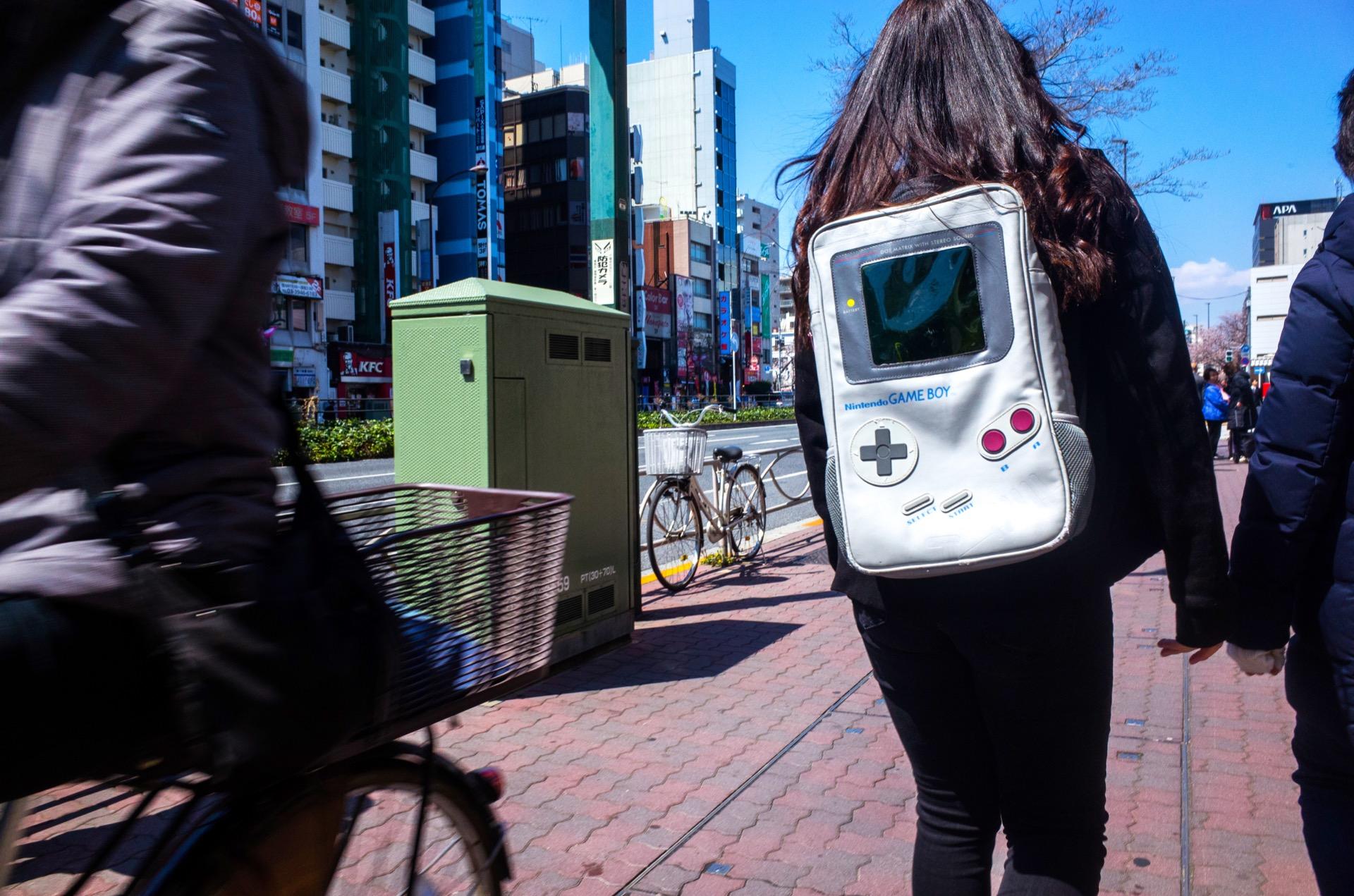 Gameboy backpack Tokyo