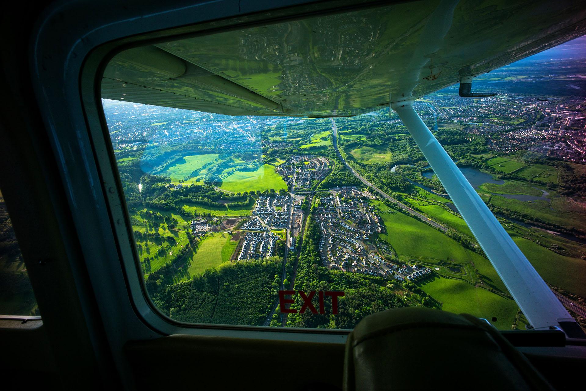 Flying over Scotland