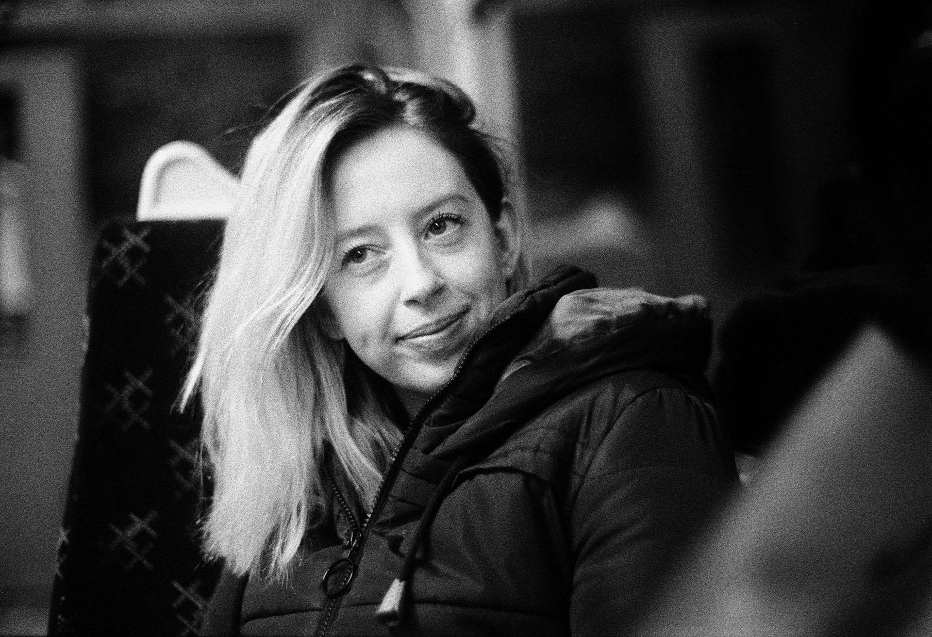 black and white 35mm portrait
