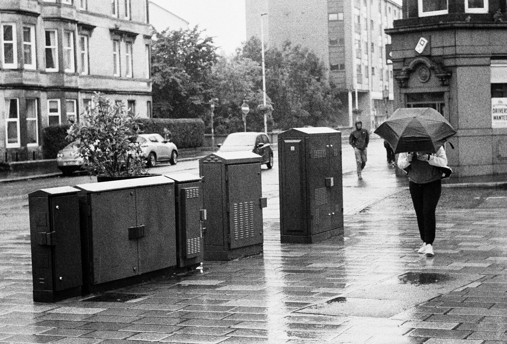 Glasgow street rain