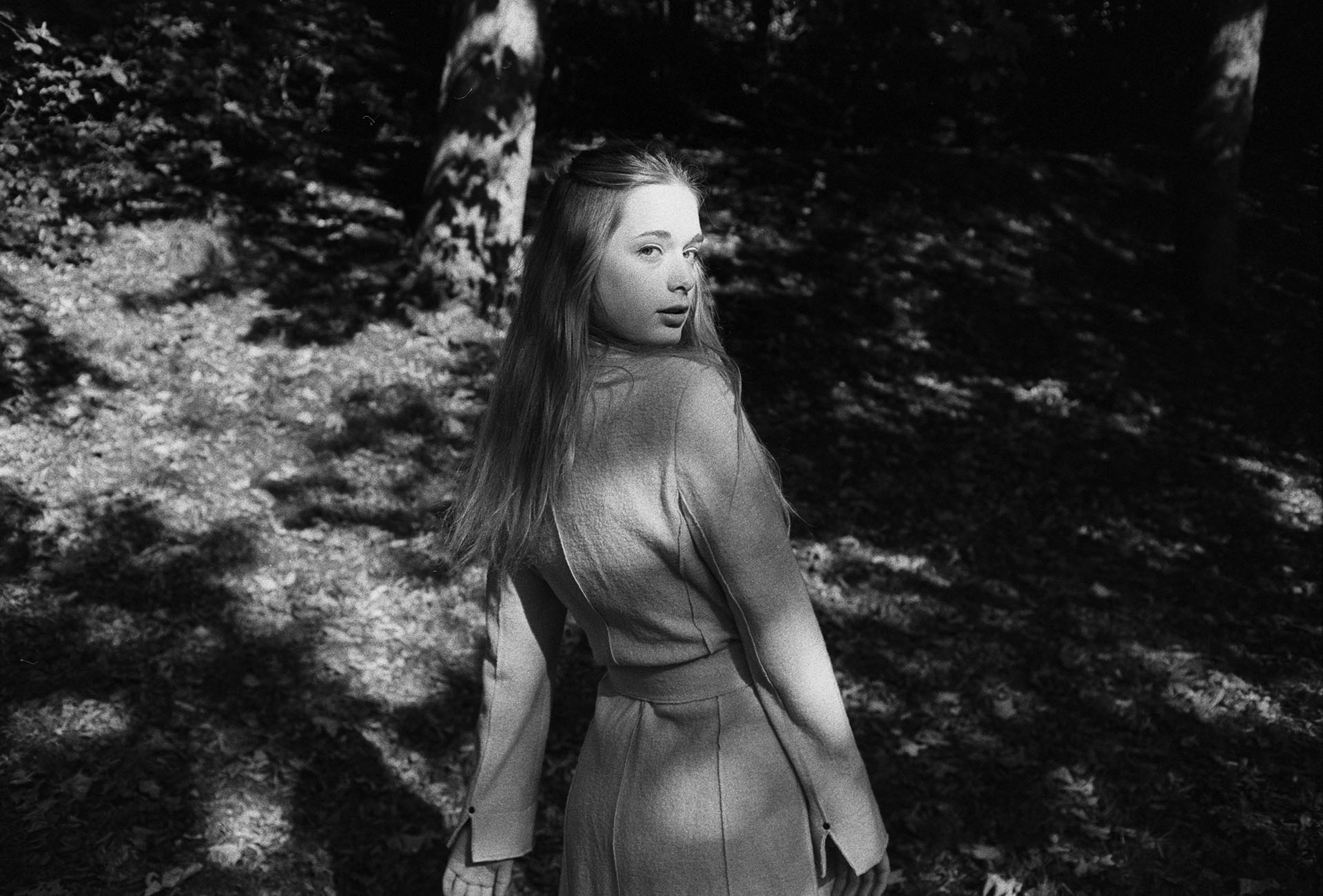 35mm black and white portrait