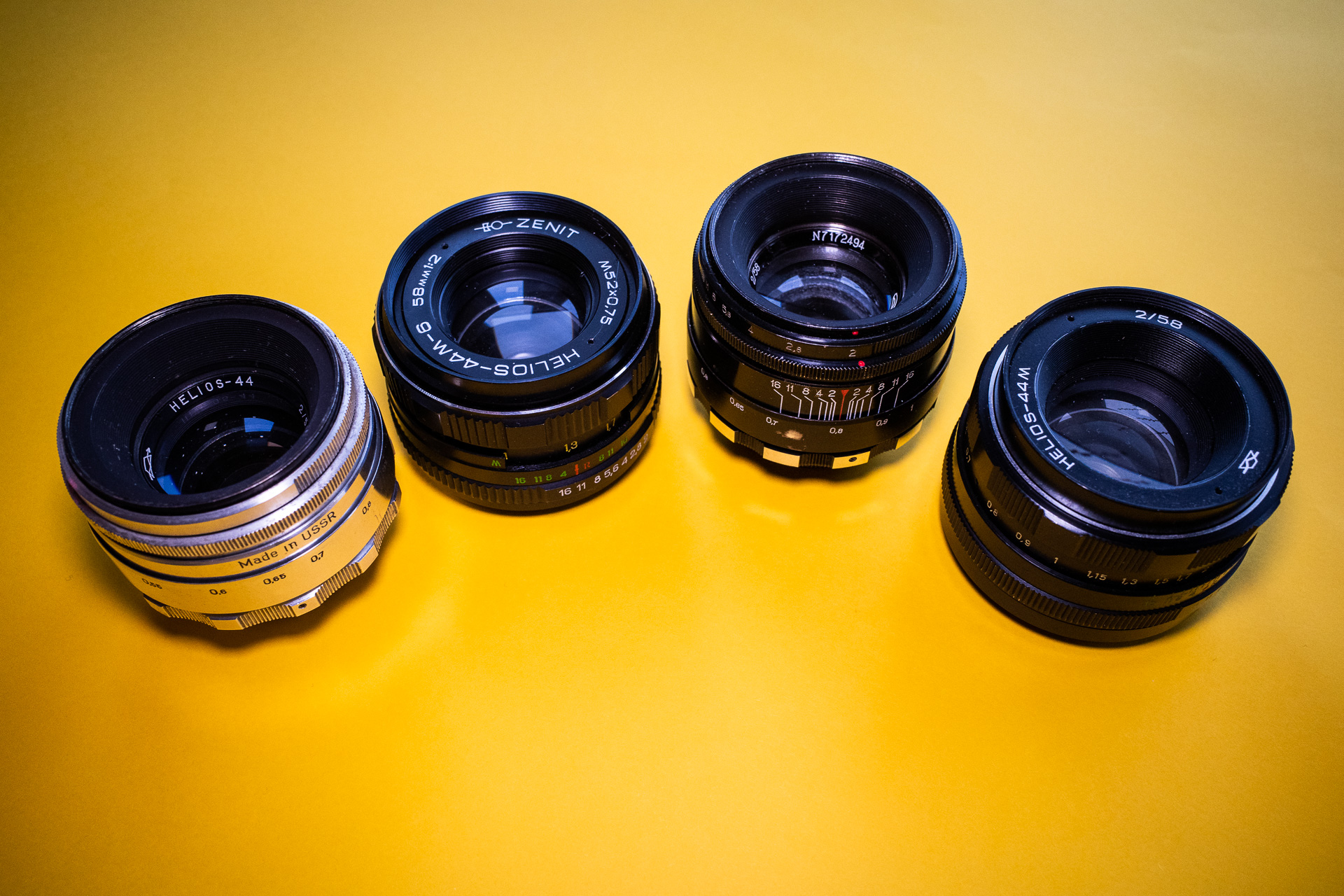 My Helios 44 lens collection (part of it)