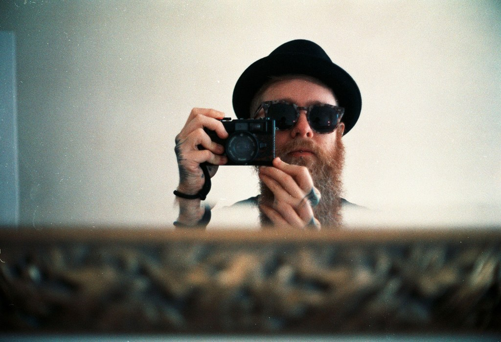 Self portrait on film